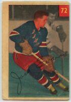 1954-55 Parkhurst Hockey #72 Jack Evans F-G Condition (2020-11)