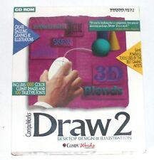 CompuWorks Draw 2 CD Rom Desktop Design & Illustration Win95/3.1 1994 Vintage