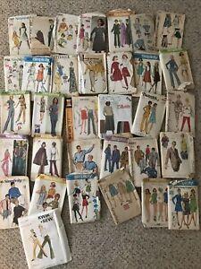 33 - Vintage 1960 1970s Women & Men's Sewing Patterns