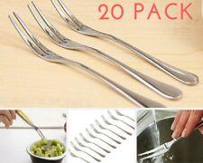 20PACK Cocktail Forks Stainless Steel Seafood Tasting Appetizer Cake Fruit Forks