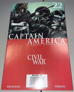 CAPTAIN AMERICA #22 Marvel 2004 NEWSSTAND Variant Civil War