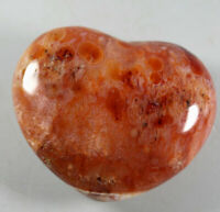 Natural Colorful Red Orange White Carnelian Agate CRYSTAL Heart Healing  233g