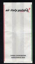 Air Italy Polska airline air sickness barf disposal bag spucktüte no Alitalia ax
