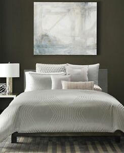 Hotel Collection Keystone Woven Jacquard Texture Full/Queen Comforter & Sham