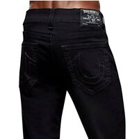 True Religion Men's Geno Slim Fit Stretch Jeans in Black Body Rinse