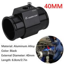 40mm Water Temp Joint Pipe Radiator Hose Temperature Gauge Sensor Adapter Black
