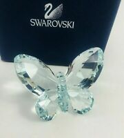Authentic Swarovski Crystal Light Azore Blue Butterfly Figurine With Box