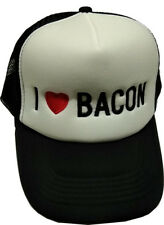 New I Love Bacon Black/White Trucker Cap Hat Embroidered Quality Hat