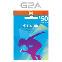 iTunes 50€ EUR Gutschein Key - 50 Euro Apple Store Guthaben Code €50 - DE NEU