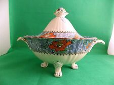 Early Masons Hand Painted Floral Soup Tureen and Bowl Pattern C2393