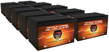 QTY10 VMAX V15-64 12V AGM 15ah Battery Replaces Rascal AutoGo 550 Portable Pow