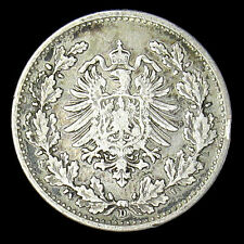 1877-D Germany 50 Pfennig silver coin VF