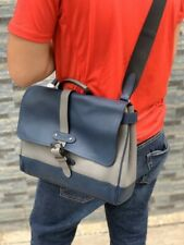 Coach  Hudson Small Messenger Bag in Colorblock Heather Grey