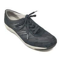 Women's Dansko Hayes Shoes Sneakers Sz 41 EU/10.5-11 US Black Leather Casual X2
