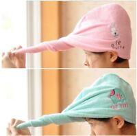2pcs Cartoon Magic Lady's Hair Drying Bath Towel  Hat Cap Quick Dry Wrap