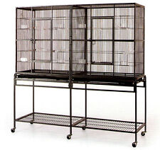 "X-Large 64"" Double Guinea Pig Ferret Glider Rat Chinchilla Squirrel Divider Cage"