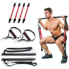 Portable Gym Exercise Resistance Band Pilates Bar Kit Home Pilates Stick Drawbar