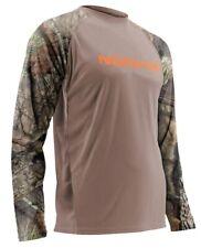 NOMAD Mossy Oak Break Up Country Hunting Khaki Jersey Shirt L NWT