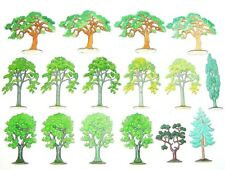 16x Siku 1:55 V-Series CITY SCENERY FIR & LEAF TREES V576 V577 V578 V579 Big Lot