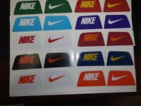 One set NIKE Visor Decals Select One of Ten Color Combinations