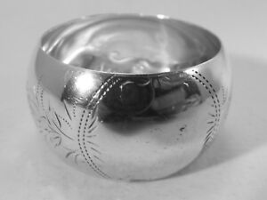 Good HM Silver Napkin Ring (453a) - Birm 1915 Joseph Gloster - Not Engraved
