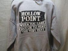 Hollow Point when u care  Hoodie Sport Grey Size L Mens / Ladies  us seller