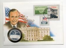 Numisbrief  the white house 1989 Georg Bush / silver coin 999 / Philswiss