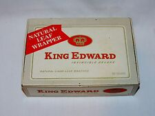 Vintage King Edward The Seventh Invincible Deluxe Natural Leaf Wrap Cigar Box