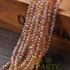 100pcs 4X3mm Crystal Glass Rondelle Faceted Loose Beads Opal & Orange