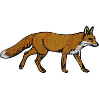 Embroidered Fox Iron On Badge Sew On Patch Animal Clothes Embroidery Applique