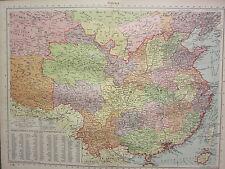 1940 MAP ~ CHINA ~ CAPITAL CITIES SHANGHAI SHANSI TIBET