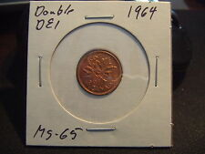 CANADA ONE CENT 1964 DOUBLE DEI,  MS-+++++!!!!!