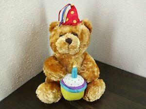 New Adventures Plush  Singing Birthday Bear  2004 Stuffed Animal Toy