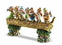 """Jim Shore Disney Traditions Snow White and the Seven Dwarfs Heigh-ho 8"""" 4005434"""