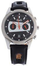 D&G time CRONÓGRAFO 5 ATM 371970068 reloj watch fashion steel Leather CHRONO