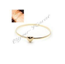 Feiner Goldarmreifen Armreif mit Herz Love Fashion Armschmuck Gold Bangle Heart