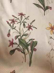 PRETTY BOTANICAL FLORAL CURTAINS./DRAPES TAUPE DOT,MUST SEE