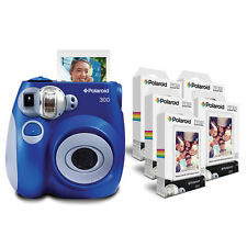 Polaroid PIC 300 Camera in Blue with 5 X PIF 300 Paper Bundle Pack = 50 Prints