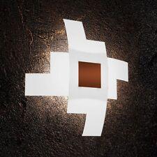 Plafoniera in vetro bianca e ruggine moderna a 4 luci tpl 1121/55-CO