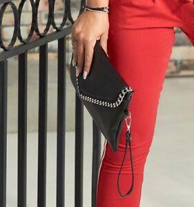 By Alina Damenhandtasche Schultertasche Umhängetausche schwarz Handbag #G06