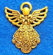 25Pcs. WHOLESALE Tibetan Antique Gold LARGE Detailed ANGEL Charms Pendants Q1141