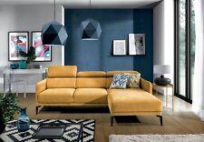 Beautifull and Trendy Corner Sofa in Yellow Fabric