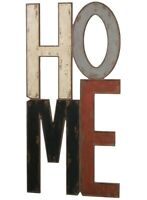 """HOME Wall Sign Distressed 47"""" Tall"""