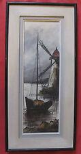 """Belle marine par ROBERT MOGISSE """" voilier prés du moulin  """""""