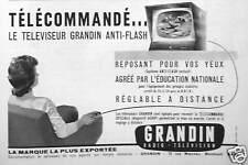PUBLICITÉ TÉLÉCOMMANDÉ LE TÉLÉVISEUR GRANDIN ANTI-FLASH RÉGLAGE A DISTANCE