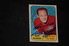 BRUCE MacGREGOR 1967-68 TOPPS SIGNED AUTOGRAPHED CARD #102 RED WINGS