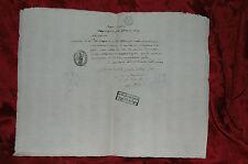 Regno Italico 1809 Ep. Napoleone in Italia Comune di Massa Fiscaglia Certificato