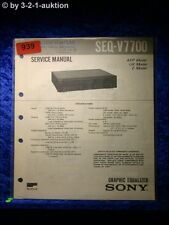 Sony Service Manual SEQ V7700 Graphic Equalizer  (#0939)