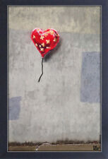 BANKSY BANDAGED HEART 13x19 FRAMED GELCOAT POSTER STREET ART ARTIST PAINT LONDON