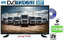 """Lenco LED TV Fernseher 12-24Volt 22"""" 55cm 12V DVB-T2 Full HD SAT DVD-Player LKW"""